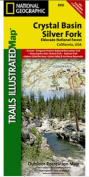 National Geographic TI00000806 Map Of Crystal Basin-Eldorado National Forest - California