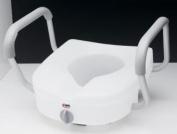 Carex E-Z Lock raised toilet seat w/ adjustable handles
