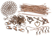 Cousin 479969 Jewellery Basics Metal Findings 145-Pkg-Copper Starter Pack
