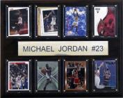 C & I Collectables 1215JORDAN8C NBA Michael Jordan Chicago Bulls 8 Card Plaque