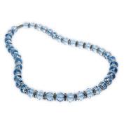 Alexander Kalifano WHITE-NGG-N22 Gorgeous Glass Necklaces - Sapphire