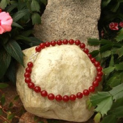 Betty Rocks BNKDRJ201140018T3 18 in. 14mm Round Dyed Red Jade Necklace