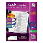 Avery Consumer Products AVE11128 Index Dividers- Classic- 8-.130cm .x28cm .- 1-31 Tab- Black-White