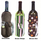 Picnic Gift 2739-BD Wine Apron - Brown Dots