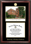 Campus Images CA940LGED University of Southern California Gold embossed diploma frame with Campus Images lithograph