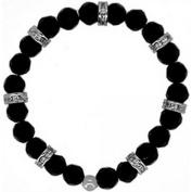 Doma Jewellery DJS01259 Bracelet Black Onyx with CZ - 8mm beads