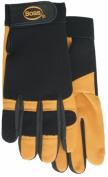 Boss Gloves Large Black & Gold Premium Goatskin Boss Guard Gloves 4048L