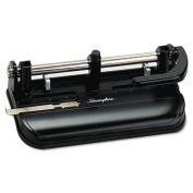 Swingline 74350 32-Sheet Lever Handle 2- to 7-Hole Adjustable Punch 9/32 Holes Black