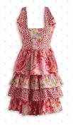 Design Imports 27033 Pink Floral Vintage Apron