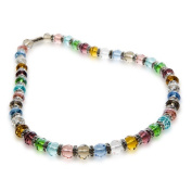 Alexander Kalifano WHITE-NGG-N01 Gorgeous Glass Necklaces - Multi-Colored