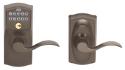 Schlage Aged Bronze Accent Entry Lever Keypad Lock FE595VCAM716ACC