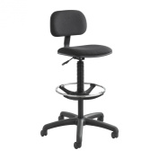 Safco 3390BL Economy Extended Height Chair in Black