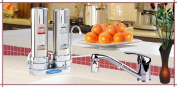 Crystal Quest CQE-CT-00129 Countertop Replaceable Double Ceramic Plus Water filter System
