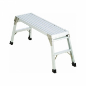 Werner 1-Step Aluminium Work Platform Step Stool with 100kg. Load Capacity
