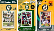 C & I Collectables AS3TS MLB Oakland Athletics 3 Different Licenced Trading Card Team Sets