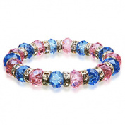 Alexander Kalifano BLUE-BGG-08 Gorgeous Glass Bracelets - Purple and Blue