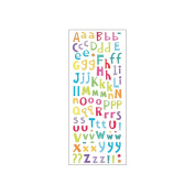 Sticko 473448 Puffy Classic Stickers-Colourful Puffy Alpha Small
