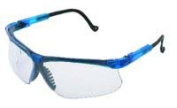 Uvex UVXS3240X Genesis Glasses Blue Frame Clear Lens With Anti-Fog Coating