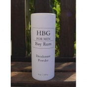 Honeybee Gardens 0364182 Mens Deodorant Powder Bay Rum - 4 oz