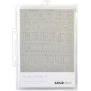 Chipboard Alphabet #1 21cm x 15cm Sheets 3/Pkg-.2220cm Uppercase, Lowercase & Numbers
