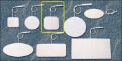 Pepin WWS22 ThriftyTrode White Cloth Electrode - 5.1cm X 5.1cm Square Prewired - 20 Packs Of 4