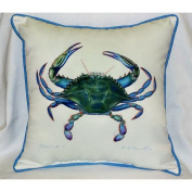 Betsy Drake HJ005 Blue Crab- Male Art Only Pillow 18x18