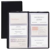 Cardinal Brands- Inc CRD751610 Card Holder- Business- 72-Card Cap- 7-.190cm .x4-.100cm .- Vinyl- Black