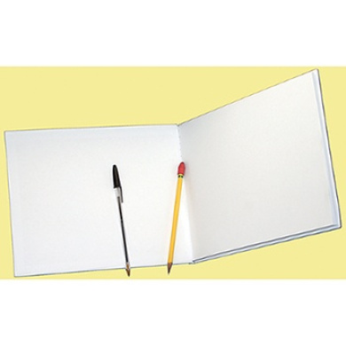 ASHLEY PRODUCTIONS ASH10710 WHITE HARDCOVER BLANK BOOK 8. 5 X 11