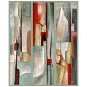 """Trademark Fine Art 90cm x 120cm """"Abstract Triptych"""" by Joval"""