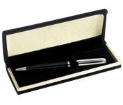 Aeropen International CFS-5001 Brass Chrome - Black Ballpoint Pen with Black Velvet Box
