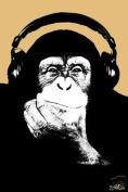 Hot Stuff Enterprise 791-24x36-PA Headphone Monkey Poster
