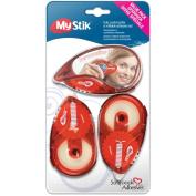 3L MyStik Permanent Adhesive Dispenser with 2 Refills, 1cm x 30mTotal