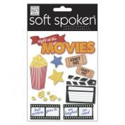 Soft Spoken Themed Embellishments, Night At The Movies