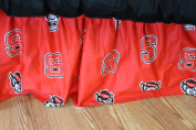 College Covers NCSDRTW NC State Printed Dust Ruffle Twin