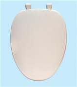Centoco 600-001 White Elongated Premium Plastic Toilet Seat