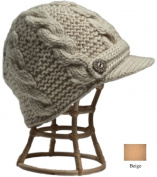 Nirvanna Designs CH211 Beige Equiestrian Knit Hat with Fleece