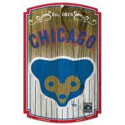 Caseys Distributing 3208569576 Chicago Cubs Wood Sign- Bear Logo