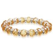 Alexander Kalifano BLUE-BGG-27 Gorgeous Glass Bracelet - Amber
