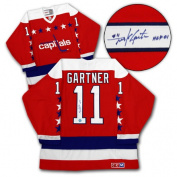 AJ Sports World GARM127000 MIKE GARTNER Washington Capitals SIGNED Retro Hockey Jersey