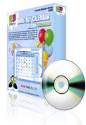 K & B Interactive KB-4592 Monthly Calendar Design