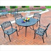 Modern Marketing KOD6003BK Sedona 42 in. Five Piece Cast Aluminum Outdoor Dining Set with Arm Chairs in Black Finish