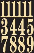 Hy-ko MM-5N 3 in. Black & Gold Self-Stick Numbers