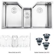 Ruvati RVH8500 Undermount 16 Gauge 86.4cm . Kitchen Sink Triple Bowl