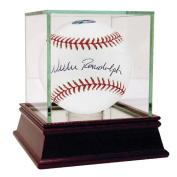 Steiner Sports RANDBAS000007 Willie Randolph MLB Baseball with Lets Go Mets Insc - AM Signed In Black