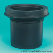 Selkirk Corporation JSC8ASE 20cm Model DSP Double-Wall Stovepipe Adaptor Stovepipe To Chimney Stainless Steel Painted Black