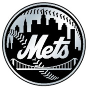 Caseys Distributing 8162053199 New York Mets Silver Auto Emblem