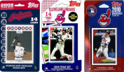 C & I Collectables INDIANS3TS MLB Cleveland Indians 3 Different Licenced Trading Card Team Sets