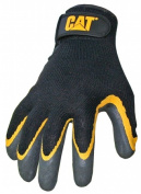 Cat Gloves Rainwear Boss Mfg CAT017415M Medium Yellow & Black Double Coated Tex