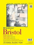 Strathmore ST342-19 48cm . x 60cm . Smooth 300 Series Tape Bound Bristol Paper - 20 Sheets