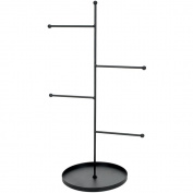 Metal Rungs Jewellery Stand 42cm x 17cm -Black